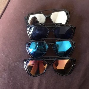 Sunglasses new different color reflecting lenses